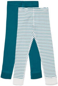 Luca & Lola Omero Kalsarit 2-pack, Green/Stripes