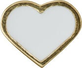 Design Letters Riipus Heart, Gold/White