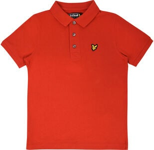 Lyle & Scott Junior Classic Pikeepaita, Tomato Red