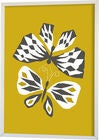 Littlephant Juliste Graphic Print Butterfly Love 70x100, Yellow