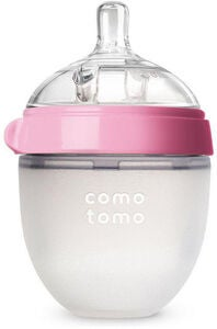Comotomo Natural Feel Tuttipullo 150 ml, Vaaleanpunainen