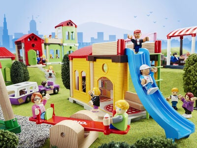 BRIO World 33943 Village Koulu-Leikkisetti
