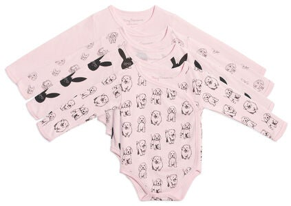 Tiny Treasure Alexie Bodyt 4-Pack, Pink