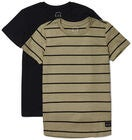 Luca & Lola Adelmo T-Paita 2-pack, Black/Stripes