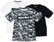 Hyperfied Edge T-Paidat 3-pack, Black/White/Camo Blue