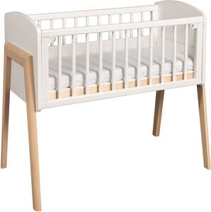 Troll Bedside Crib Come To Me, Valkoinen/Puu