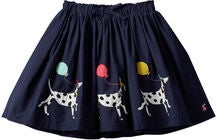 Tom Joule Ariel Applique Hame, Navy Dalmatian