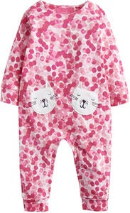 Tom Joule Applique Jumpsuit, Pink Spot Cat