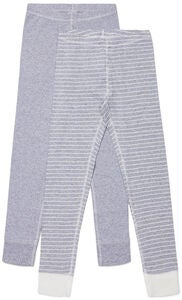 Luca & Lola Toto Kalsarit 2-pack, Grey/Stripes