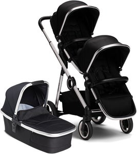 Beemoo Twin Travel+ 2020 Sisarusvaunut, Black
