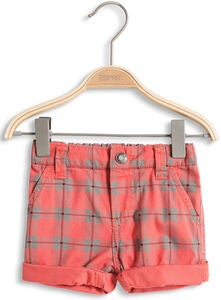 ESPRIT Shortsit Check, Coral Red