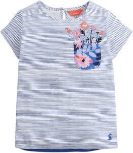 Tom Joule Applique T-Paita, Blue Pencil Stripe