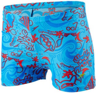 Speedo Seasquad Aquashort Uimahousut, Blue/Red
