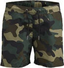 Jack & Jones Sunset Camo Uimashortsit, Olive Night