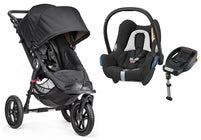 Baby Jogger City Elite Single Lastenrattaat + Maxi-Cosi Cabriofix Turvakaukalo & Jalusta, Black