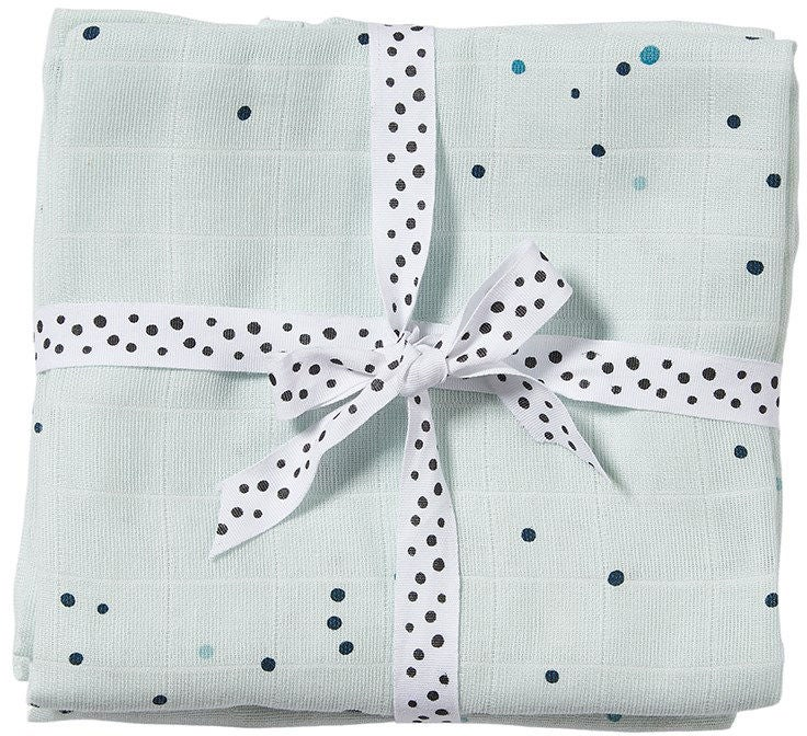 Done By Deer Liinat Dreamy Dots 120x120 2-pack, Blue