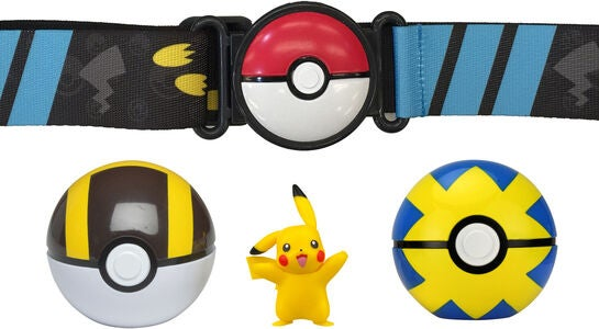 Pokémon Clip 'N Go Belt Set Ultra-pallo, Quick-pallo + Pikachu