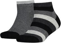 Tommy Hilfiger Basic Stripe Quarter Sukat 2-Pack, Black