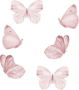That's Mine Sisustustarra Butterfly 6-pack, Rose