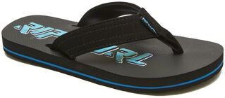 Rip Curl Ripper Kids Flip-Flopit, Black/Blue