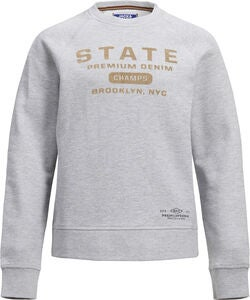 Jack & Jones Vincent Crewneck Paita, Light Grey Melange