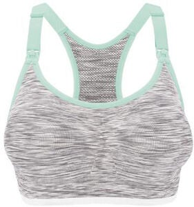 Bravado Rhythm Seamless Imetysliivit, White Grey Spacedye