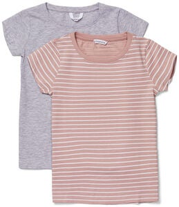 Luca & Lola Fanny Paita 2-pack, Grey Melange/Stripes