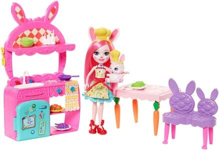 Enchantimals Leikkisetti Kitchen Fun Bree Bunny & Twist