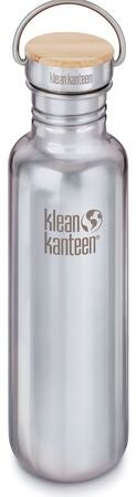 Klean Kanteen Reflect Baboo Cap Juomapullo + Bambukansi 800 ml, Mirrored Stainless