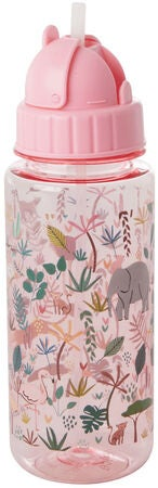 Rice Vesipullo Jungle Animals, Pink