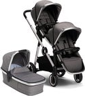 Beemoo Twin Travel+ 2020 Sisarusvaunut, Dark Grey