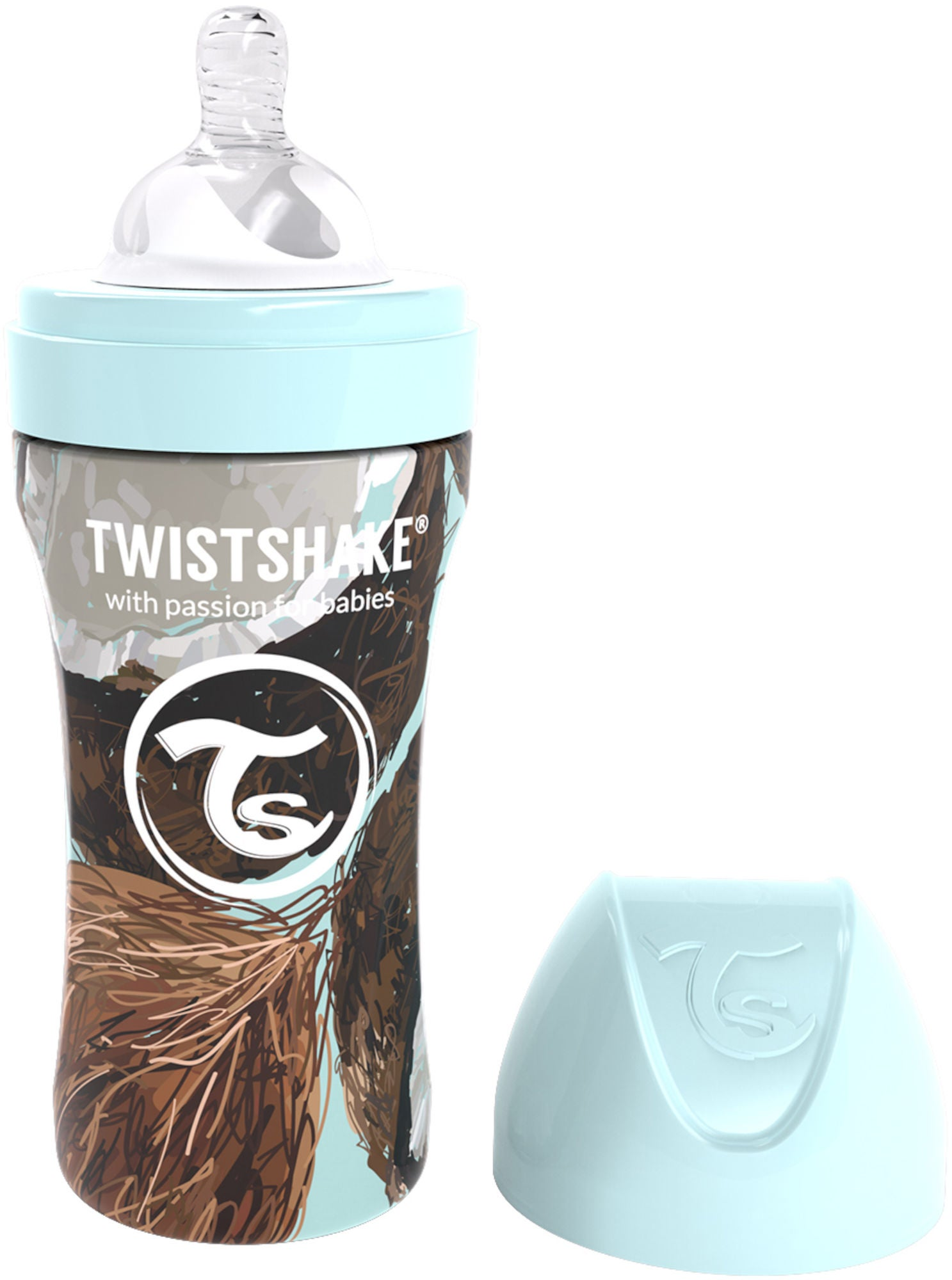 Twistshake Anti-Colic Stainless Steel Tuttipullo 330ml, Coconut
