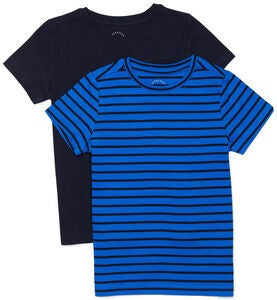 Luca & Lola Adolfo T-Paita 2-pack, Blue Stripes