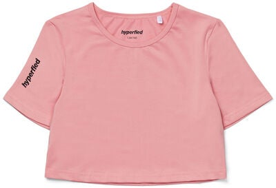 Hyperfied Crop Logo Top, Blush