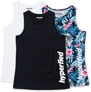 Hyperfied Split Topit, Black/White/Tropical Flower