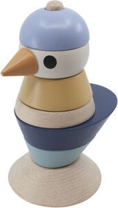 Sebra Stacking Bird Aktiviteettilelu, Denim Blue