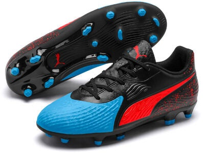 Puma ONE 19.4 JR FG/AG Jalkapallokengät, Blue/Red