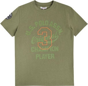 U.S. Polo Assn. Champion Player T-Paita, Light Olive