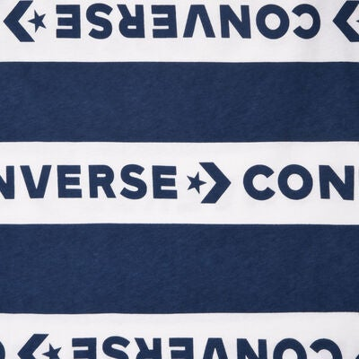 Converse Strip Wordmark T-Paita, Navy