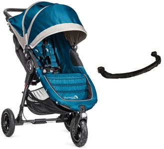 Baby Jogger City Mini GT Lastenrattaat + Turvakaari, Steel Blue/Grey
