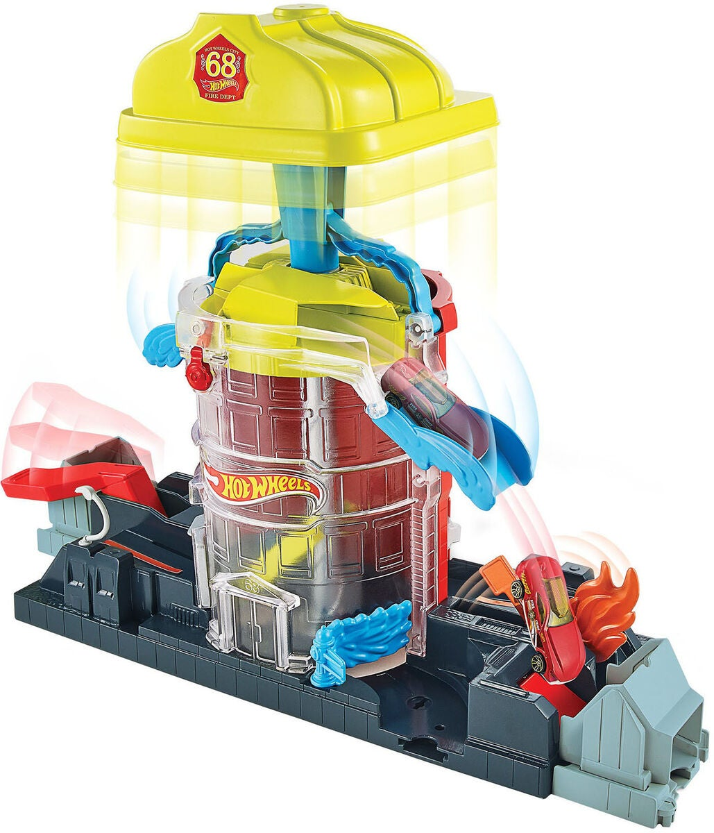Hot Wheels City Leikkisetti Super Fire House Rescue