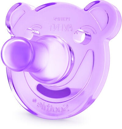 Philips Avent Soothie Shapes Tutit 0-3 kk 2-pack, Purple/Pink