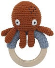 Sebra Morgan The Octopus Virkattu Helistin, Rusty Red