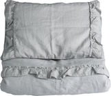 NG Baby Pussilakanasetti 130x100 Mood Ruffles, Light Grey