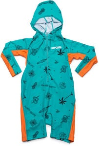 Rip Curl Kids Hooded UV-Puku, Turquoise