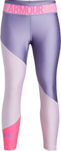 Under Armour HG Color Block Ankle Crop Leggingsit, Purple Ace