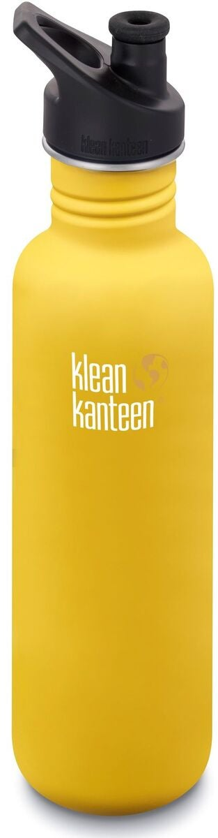 Klean Kanteen Classic Sports Cap Juomapullo  800 ml, Lemon Curry