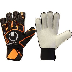 Uhlsport Soft Resist Målvaktshandske, Svart/Orange