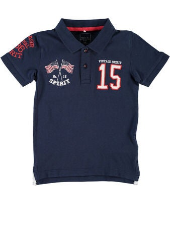 Name it Mini T-Paita Polo Kings, Dress Blues