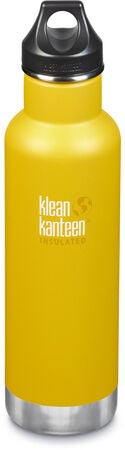 Klean Kanteen Insulated Classic Loop Cap Termospullo 592 ml, Lemon Curry